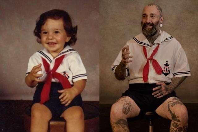 Эти люди настолько детально воссоздали свои детские фото ...