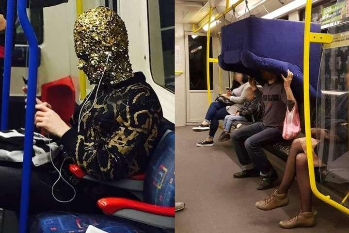 Когда встречаешь необычных и странных попутчиков в метро ...