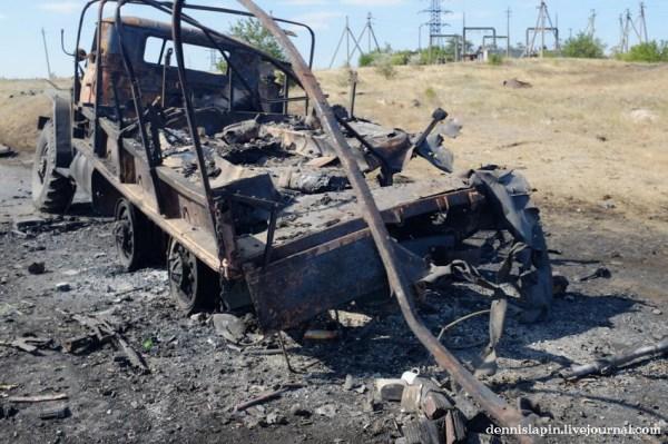 Фото: 22 - Окрестности Иловайска после войны: разбитая ...