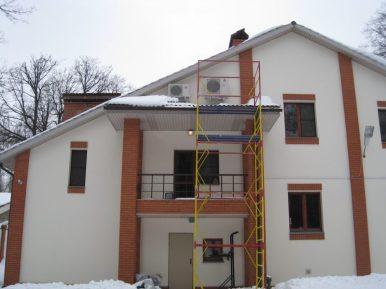 Частный дом в Подмосковье, где проводились работы по монтажу систем кондиционирования и вентиляции