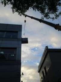 Подъём и доставка вентеляторного оборудования