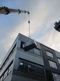 Подъём вентеляторного оборудования