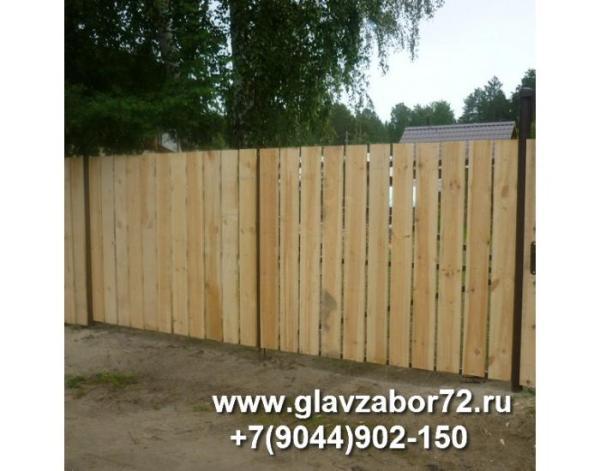 Ворота из деревянного штакетника СНТ Сосенка,Тюмень,2015