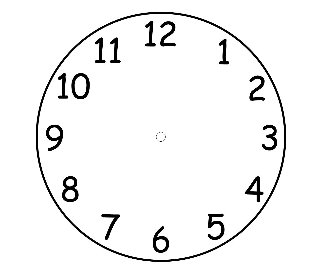 Worksheet Blank Clock Template Grass Fedjp Worksheet