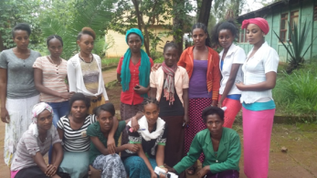 Female students at Nedjo ATVET