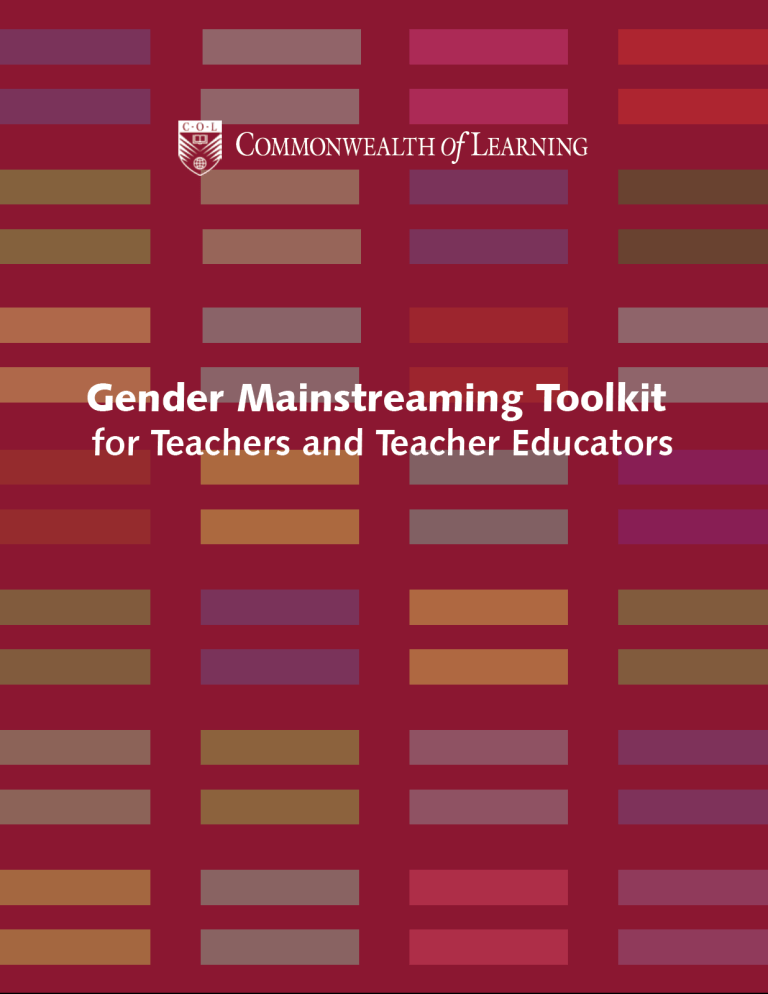 Gender Mainstreaming Toolkit for Teachers and Teacher Educators