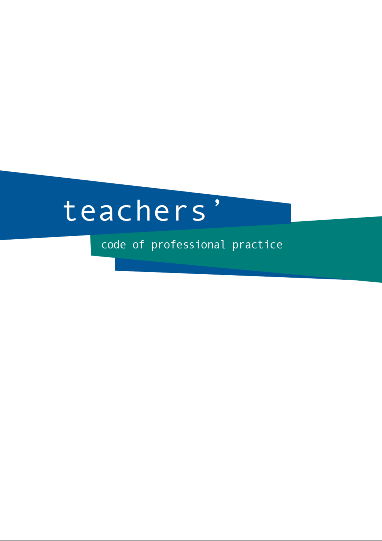 Teachers' Code of Professional Practice