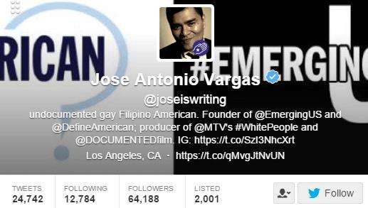 Jose Antonio Vargas Twitter Bio
