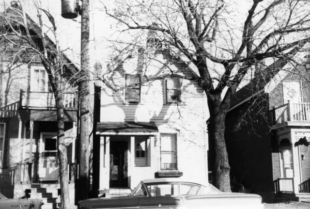 1960s view of the houses that later became derelict and were torn down to make way for the 1992 creation of Dalhousie South Park on Bell Street South
