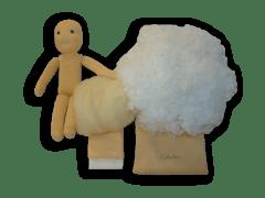 Babacsomag szilikonizált műszál töltőanyaggal, 25 cm-es babához.