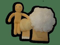 Babacsomag szilikonizált műszál töltőanyaggal, 30 cm-es babához.