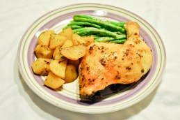 Balsamic Chicken with Roast Potatoes