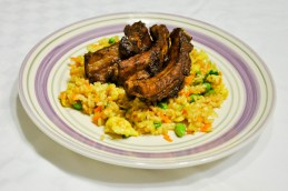 Sweet & Sour Spare Ribs with Edamame Rice