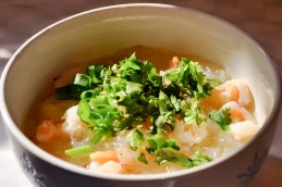 Thai Glass Noodle Soup with Shrimp
