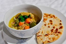 Coconut Ginger Chicken with Naan