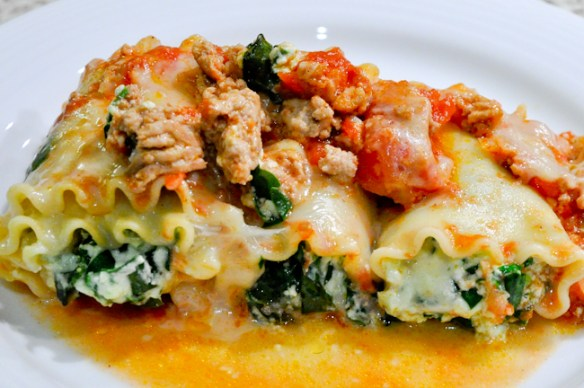 Pasta Roll-Ups with Chicken & Spinach