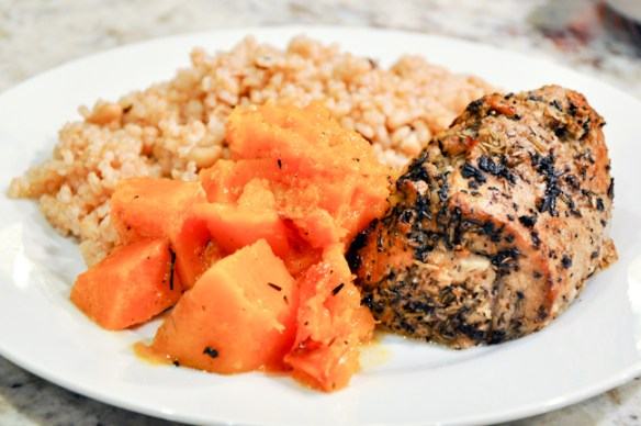 Butternut Squash Pork Roast with Brown Rice_