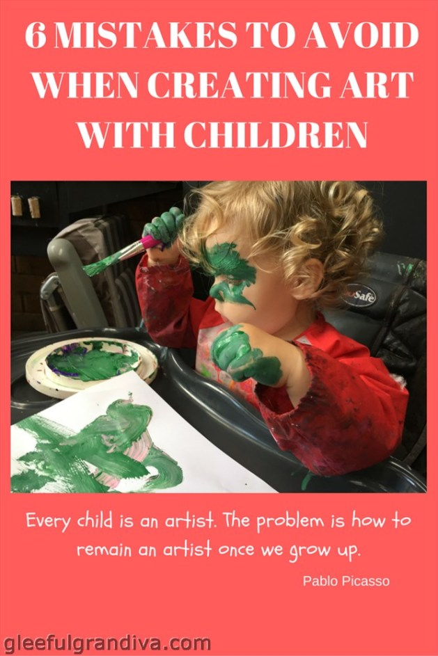 creating art with children picture
