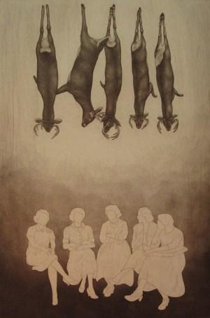 "Sunday, intaglio (etching, mezzotint and drypoint), 15x10"",2011"