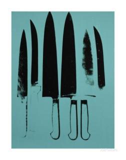 Knives, c. 1981-82 (aqua)