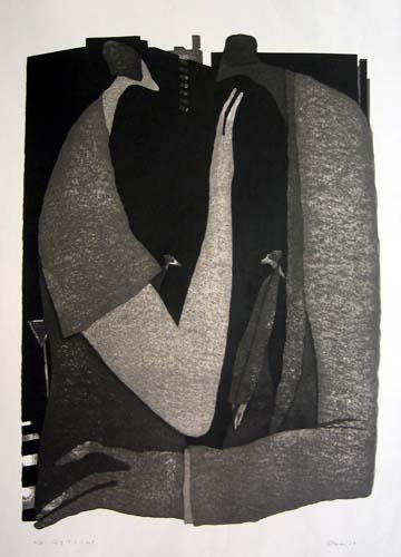 Face to Face, Woodblock print, 58 cm x 41 cm, 2004