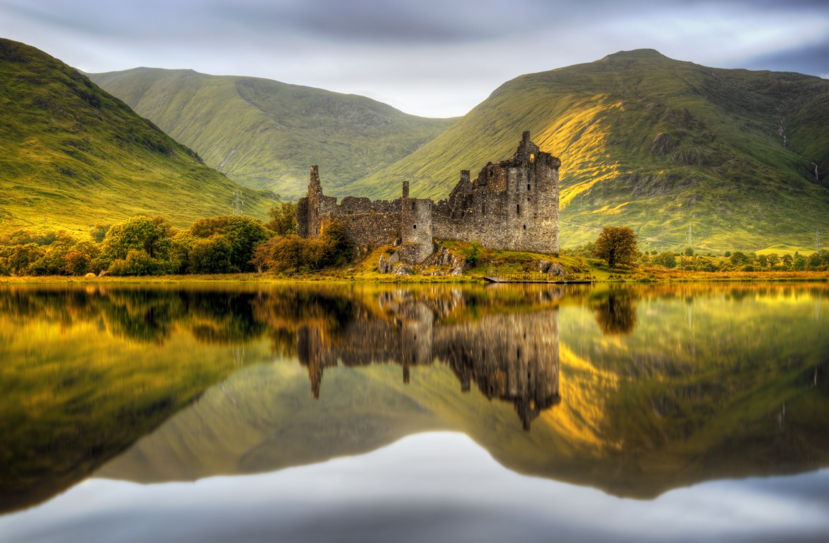 Kilchurn Castle on the bank of Loch Awe
