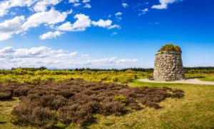 The Memorial Cairn on Culloden Battlefield