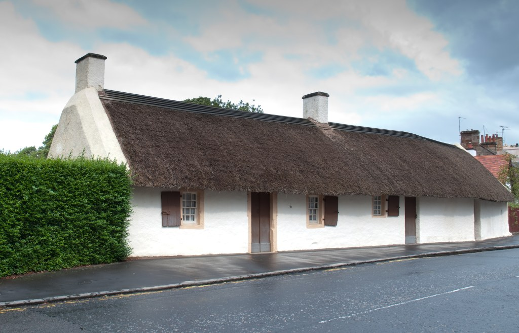 Burn's Birthplace Cottage in Alloway, Scotland