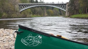 Canoeing on the River Spey.