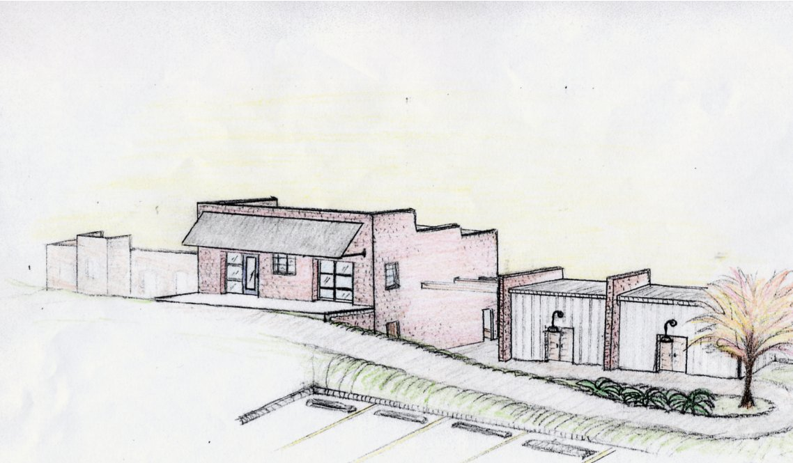 Conceptual Drawing - Cotton Warehouse and Cotton Sheds