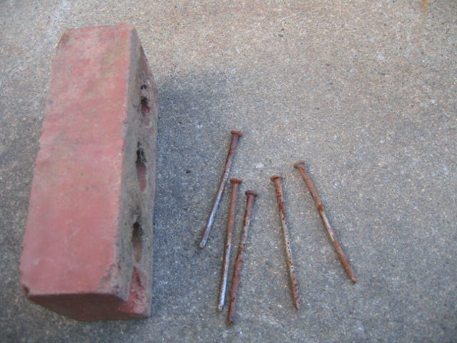 They used three of these nails at every floor joist.