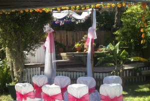 Brisbane outdoor home garden wedding setting
