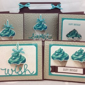 Sweet Cupcake Grouping blue