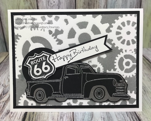 Hit the Road, Fun Stampers Journey, Stencils, thestampcamp