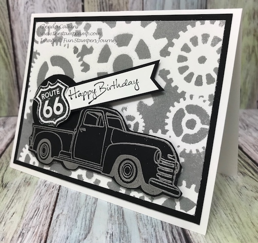 Hit the Road, Fun Stampers Journey, Stencils, thestapmcamp