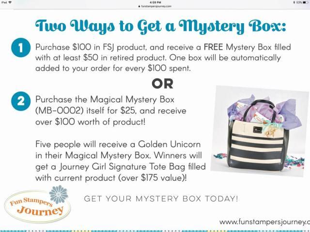 Fun Stampers Journey, Mystery Box, glendasblog, thestampcamp