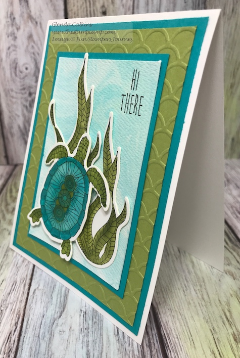 Turtley Awesome, Fun Stampers Journey, thestampcamp, Color Splashes