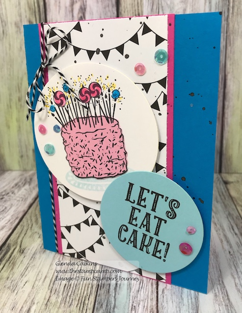 Let's Eat Cake, Fun Stampers Journey, glendasblog, thestampcamp