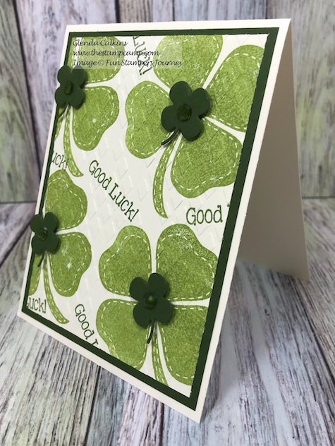 I'm Lucky, Pot O Gold, Fun Stampers Journey, thestampcamp, glendasblog