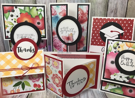 Sunday Adventure Prints, Inside & Out stamp set, Fun Stampers Journey, glendasblog
