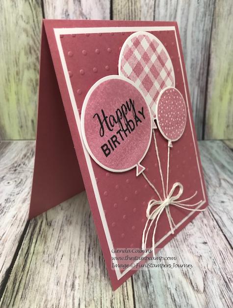 Birthday Pop, the stamp camp, Fun Stampers Journey, glendasblog