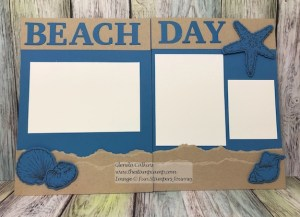 FSJ Beach Treasures Scrapbook Page!