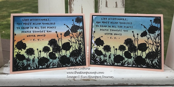 Wildflowers, Fun Stampers Journey, glendasblog, the stamp camp