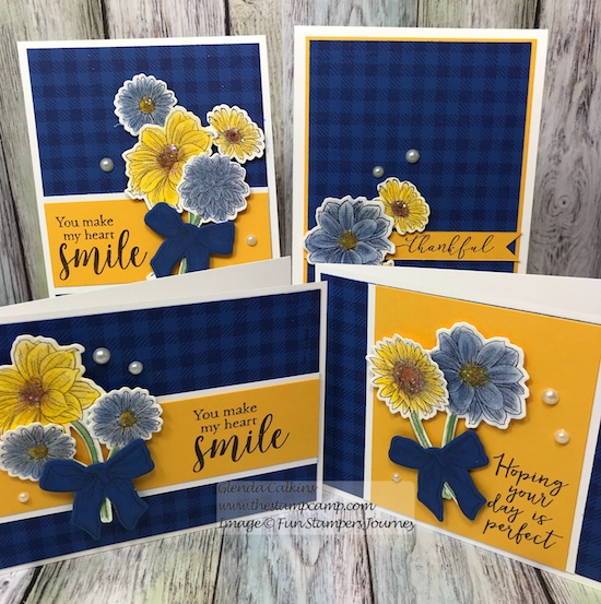 Cottage Bouquet, Fun Stampers Journey, glendasblog, the stamp camp
