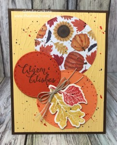 Hello Fall with Paper Scraps by Glenda Calkins