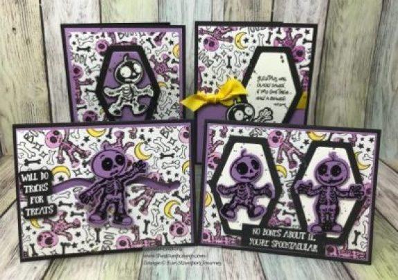 Skeletons Dance, Fun Stampers Journey, glendasblog, the stamp camp