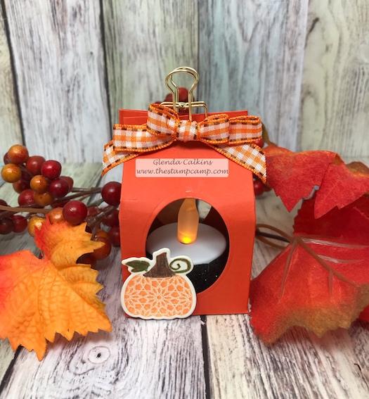 Martha's Pumpkins, glendasblog, the stamp camp, tea light candle accent