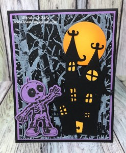 Skeletons Dance, FSJ, Fun Stampers Journey, glendasblog, the stamp camp