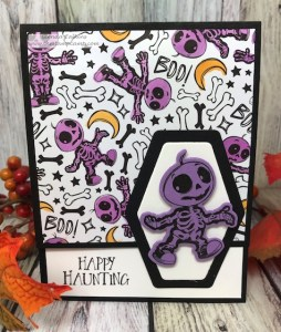 Skeletons Dance Quick Card by Glenda Calkins