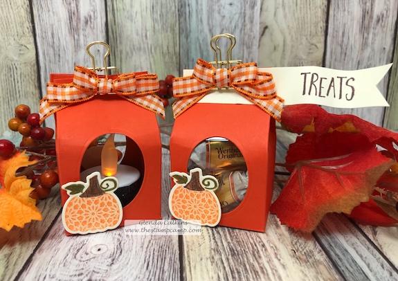 Martha's Pumpkin, Treat Holder, FSJ, Fun Stampers Journey, glendasblog, the stamp camp